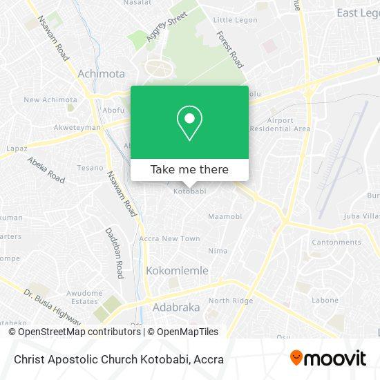 Christ Apostolic Church Kotobabi map