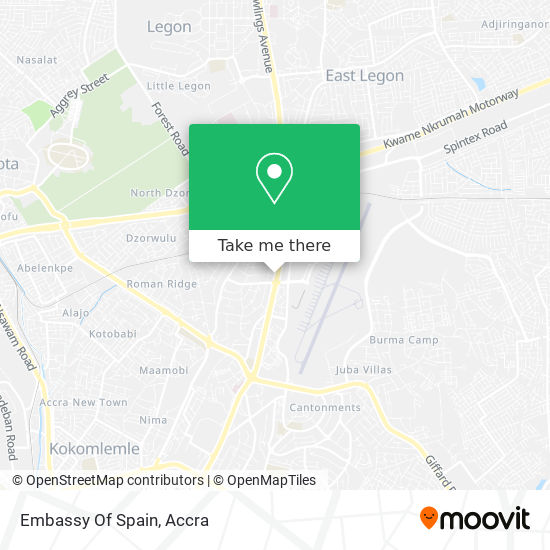 Embassy Of The Kingdom Of Spain map