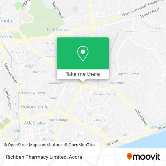 Richben Pharmacy Limited map