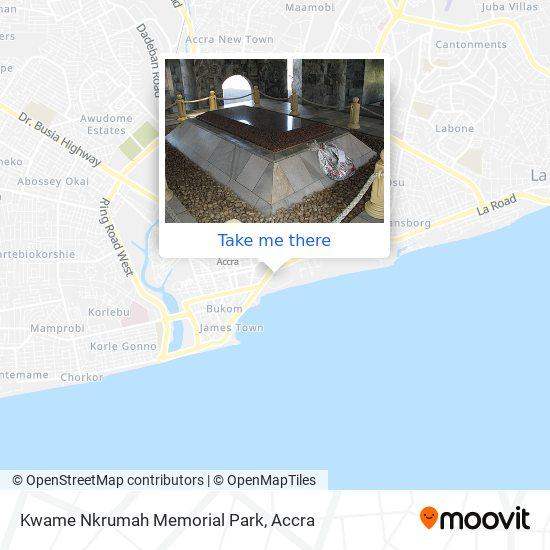 Kwame Nkrumah Memorial Park map