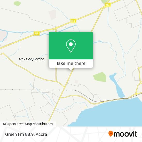 Green Fm 88.9 map