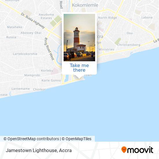 Jamestown Lighthouse map