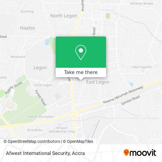 Afwest International Security map