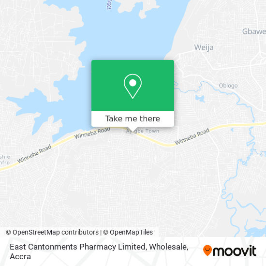 East Cantonments Pharmacy Limited, Wholesale map