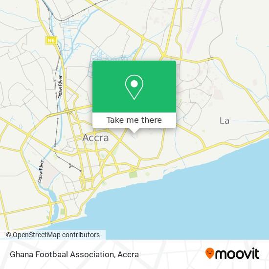 Ghana Footbaal Association map