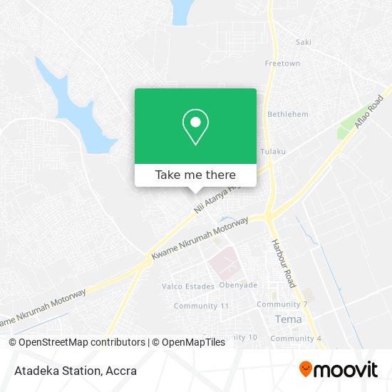 Atadeka Station map