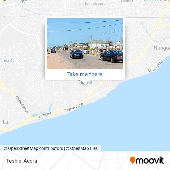 Teshie map