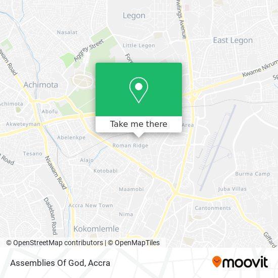 Assemblies Of God map