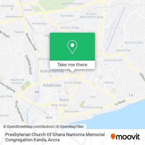 Presbyterian Church Of Ghana Nantoma Memorial Congregation Kanda map
