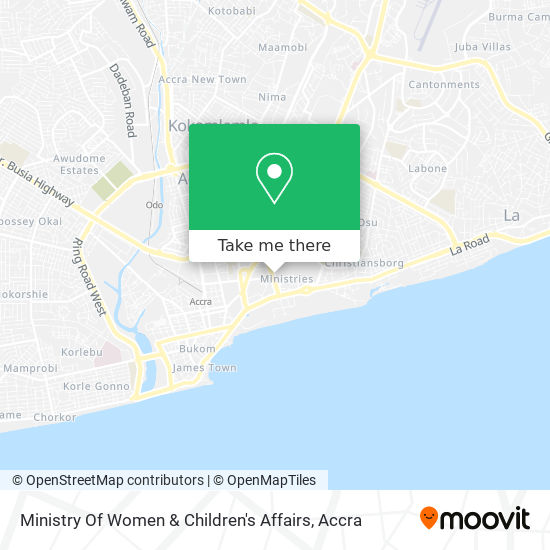 Ministry Of Women & Children's Affairs map