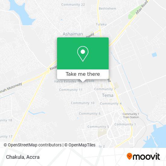 Chakula map