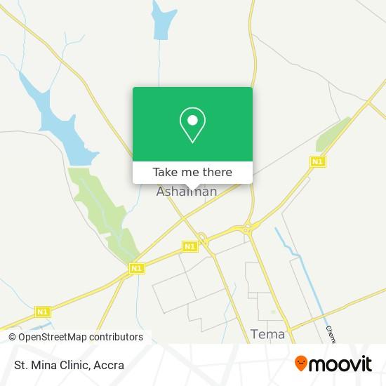 St. Mina Clinic map
