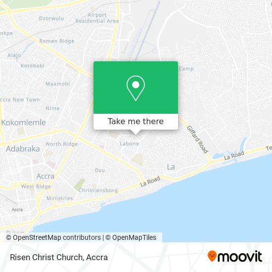 Risen Christ Church map