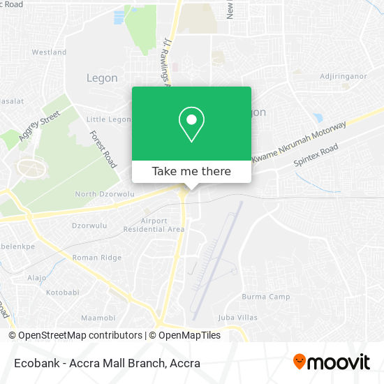 Ecobank - Accra Mall Branch map