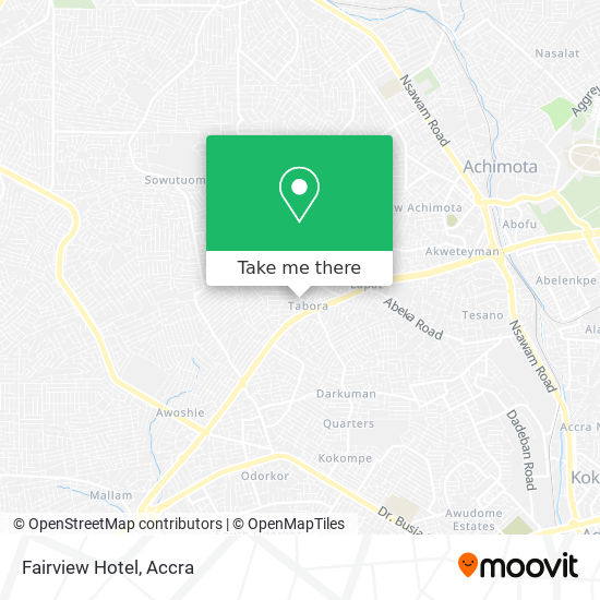 Fairview Hotel map