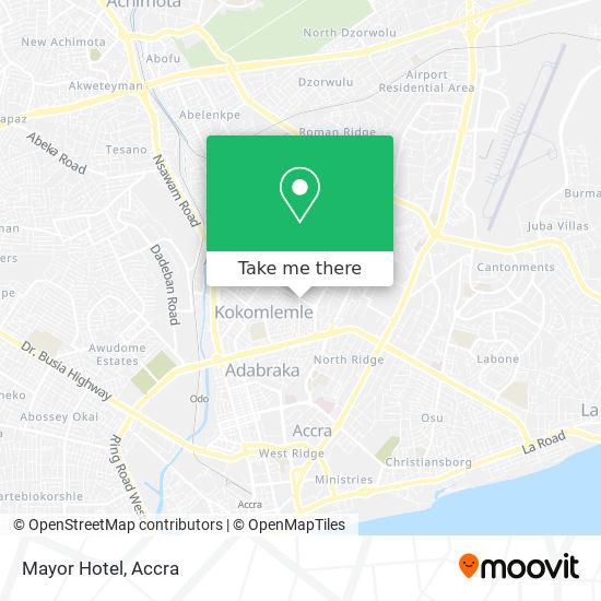 Mayor Hotel map