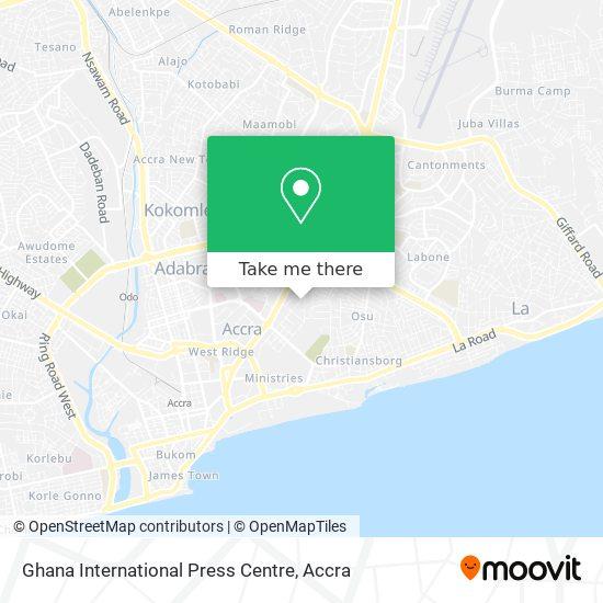 Ghana International Press Centre map
