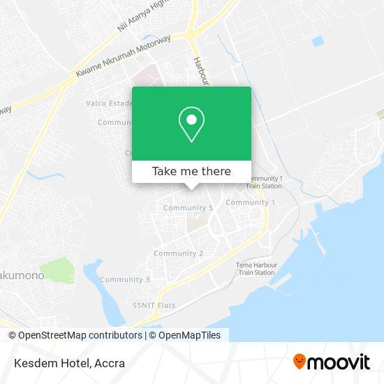 Kesdem Hotel map