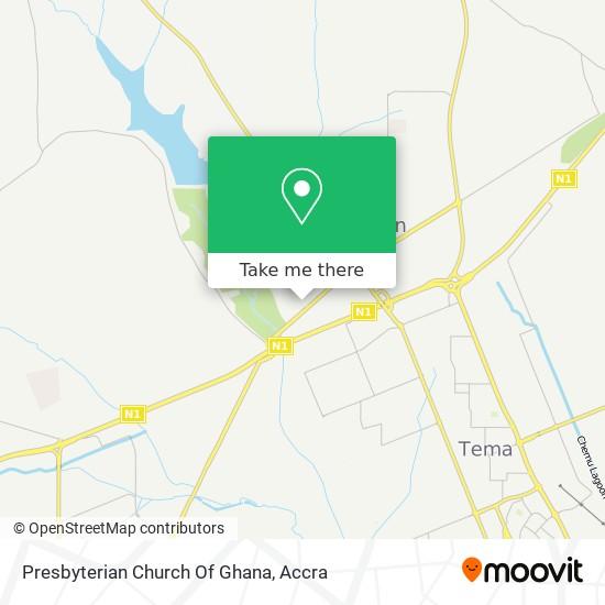 Presbyterian Church Of Ghana map