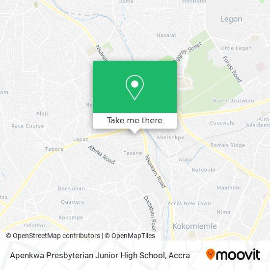 Apenkwa Presbyterian Junior High School map