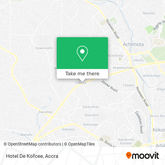 Hotel De Kofcee map