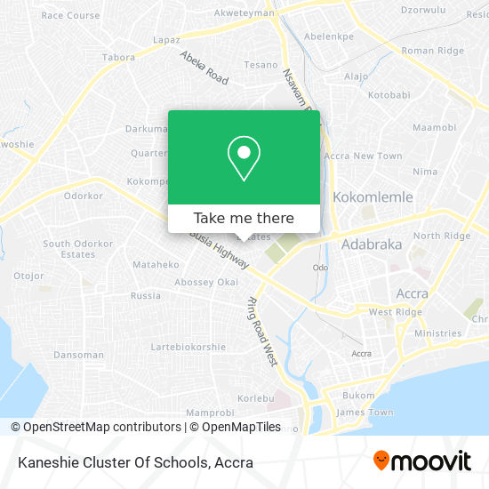 Kaneshie Cluster Of Schools map