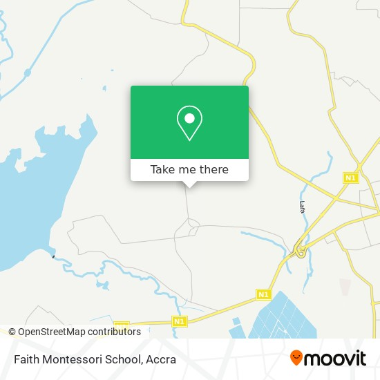 Faith Montessori School map