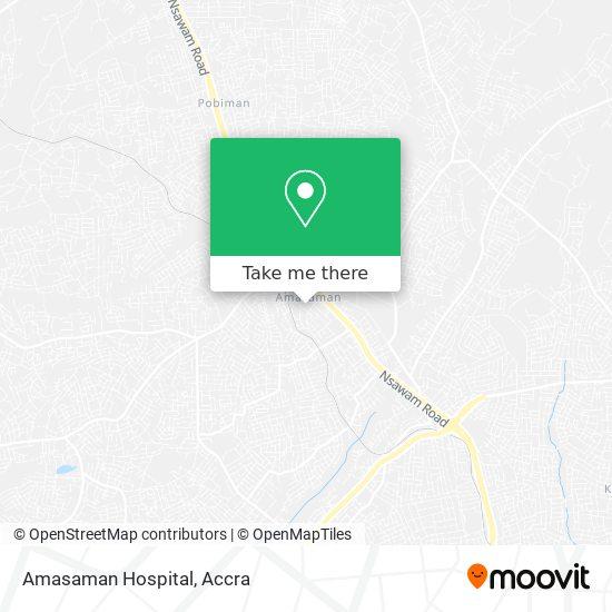 Amasaman Hospital map