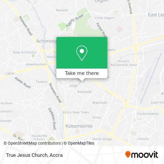 True Jesus Church map