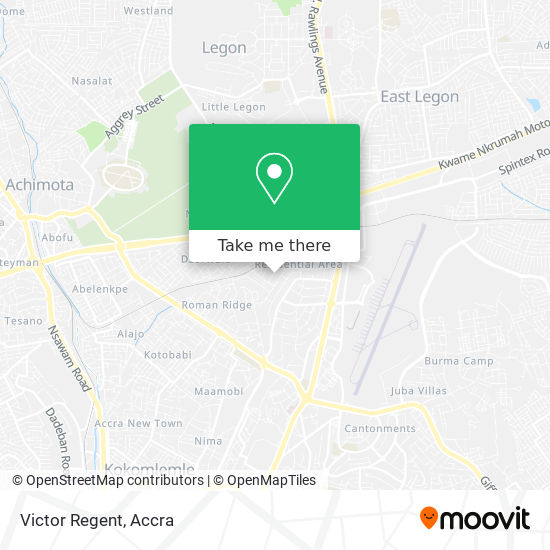 Victor Regent map
