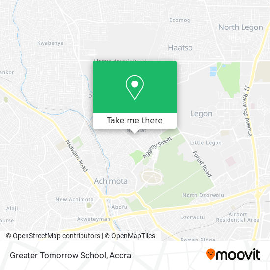 Greater Tomorrow School map