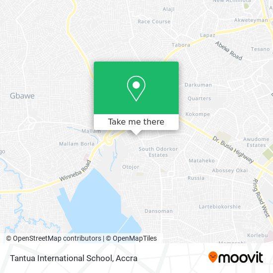 Tantua International School map