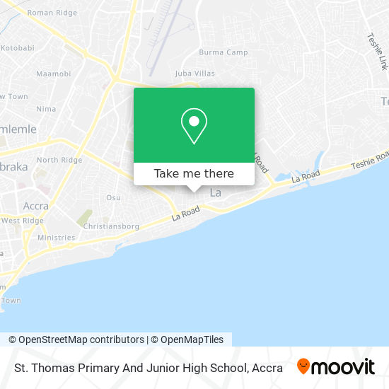St. Thomas Primary And Junior High School map