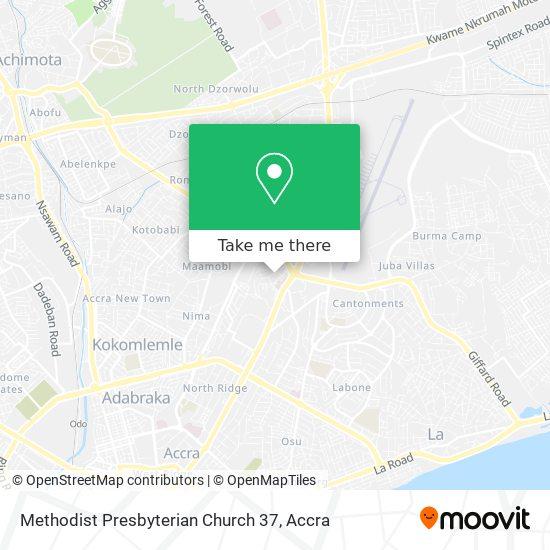 Methodist Presbyterian Church 37 map