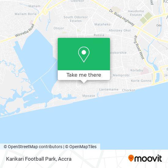 Karikari Football Park map