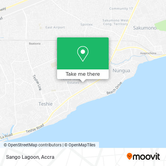 Sango Lagoon map