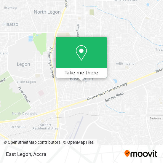 East Legon map