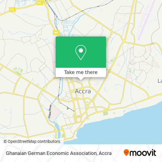 Ghanaian German Economic Association map