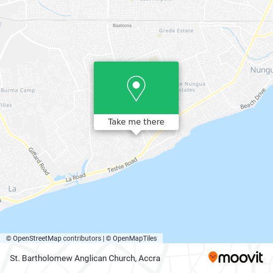 St. Bartholomew Anglican Church map