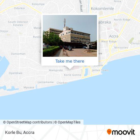 Korle Bu map