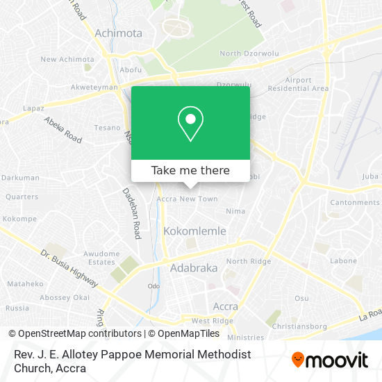 Rev. J. E. Allotey Pappoe Memorial Methodist Church map