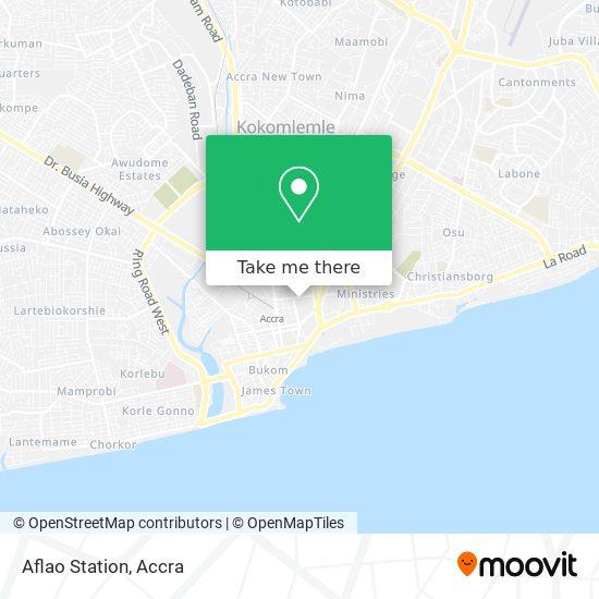 Aflao Station map