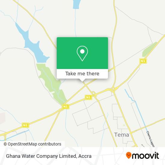 Ghana Water Company Limited map