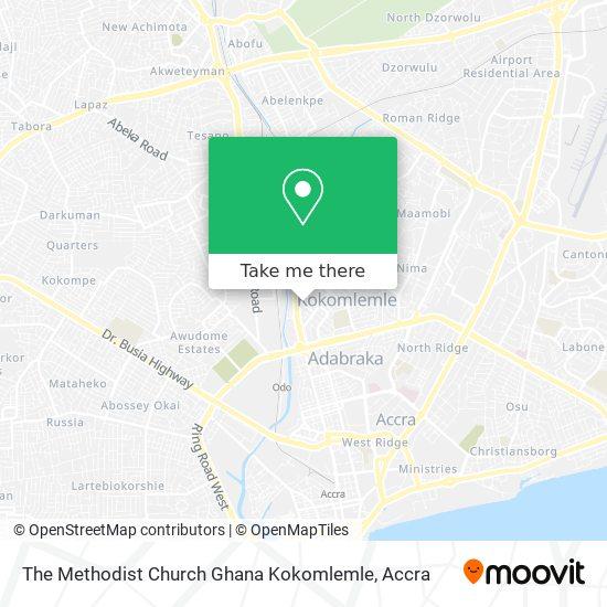 The Methodist Church Ghana Kokomlemle map