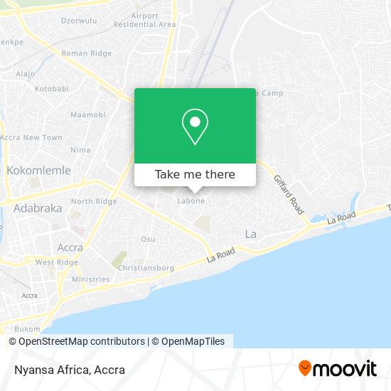 Nyansa Africa map