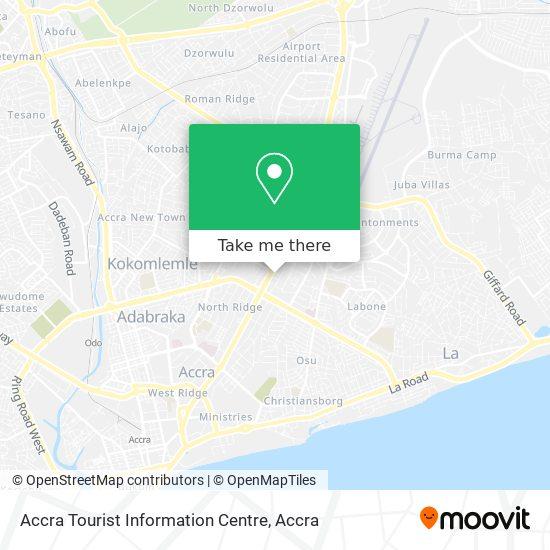 Accra Tourist Information Centre map