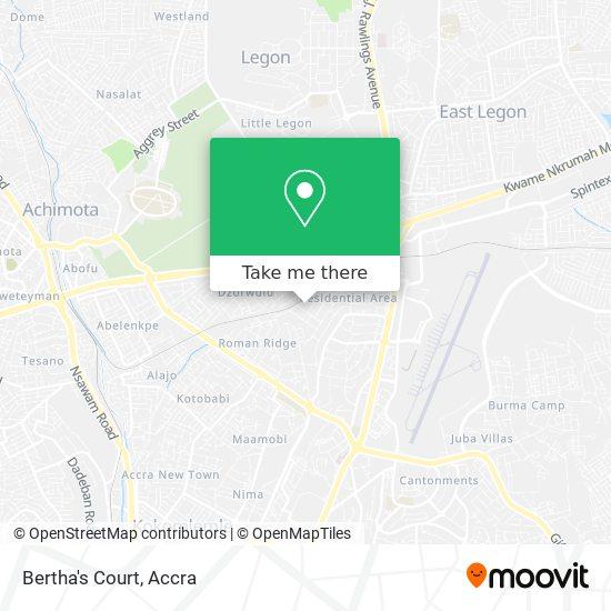 Bertha's Court map