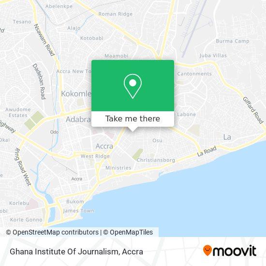 Ghana Institute Of Journalism map