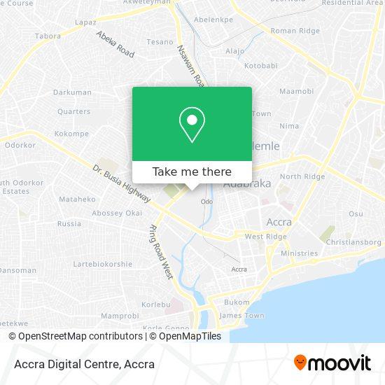 Accra Digital Centre map