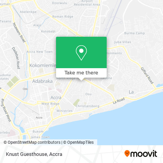 Knust Guesthouse map